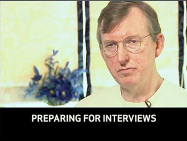 Click to view 'Preparing for interviews' video