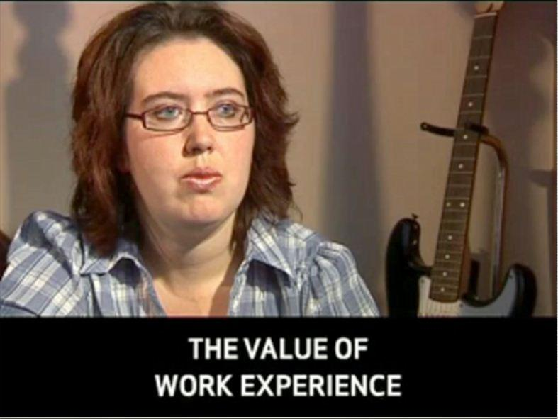 Click to view 'The value of work experience' video